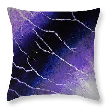 Cell Division  Throw Pillow by P Dwain Morris