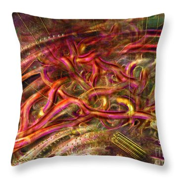 Throw Pillow featuring the digital art Cell Dreaming 9 by Russell Kightley