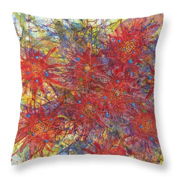 Cell No.11 Throw Pillow by Angela Canada-Hopkins