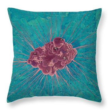 Cell No.15 Throw Pillow by Angela Canada-Hopkins