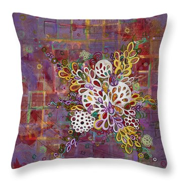 Cell No.16 Throw Pillow by Angela Canada-Hopkins