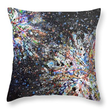 Cell No.7 Throw Pillow by Angela Canada-Hopkins