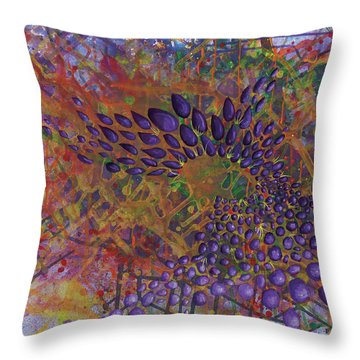 Cell No.8 Throw Pillow by Angela Canada-Hopkins