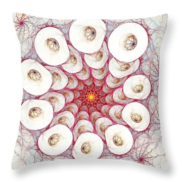 Cell Printer Throw Pillow by Anastasiya Malakhova
