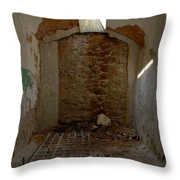 Cell Room Throw Pillow