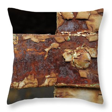 Throw Pillow featuring the photograph Cell Strapping by Fran Riley