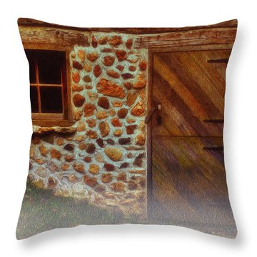 Cellar Door In The Mist Throw Pillow by Jack Zulli