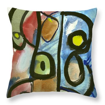 Cello In Blue Throw Pillow by Stephen Lucas