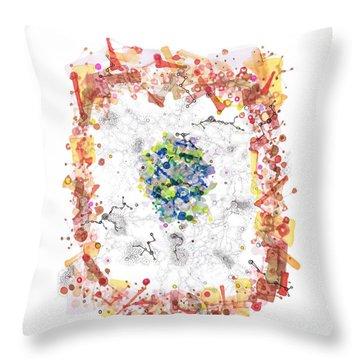 Cellular Generation Throw Pillow