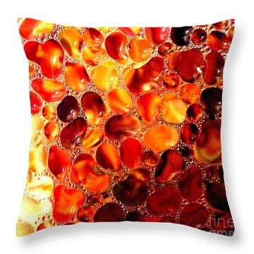 Throw Pillow featuring the photograph Cellular by Kathy Bassett