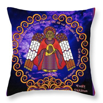 Celtic Angel Rising Throw Pillow