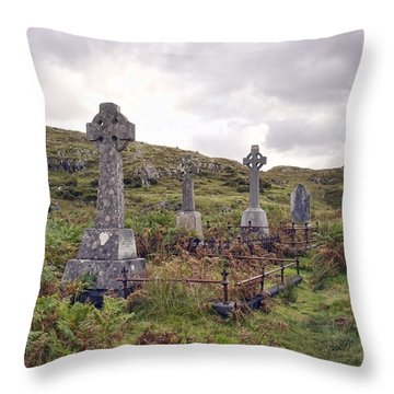 Throw Pillow featuring the photograph Celtic Cemetary by Hugh Smith
