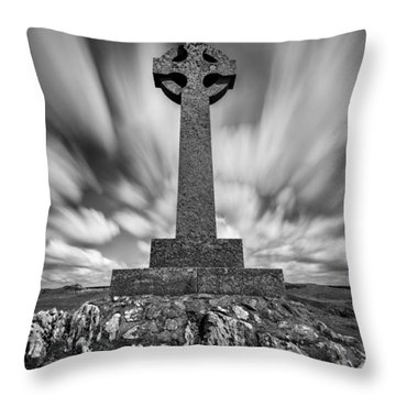 Celtic Cross Throw Pillow by Dave Bowman