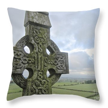 Celtic Cross Throw Pillow by Suzanne Oesterling
