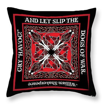 Celtic Dogs Of War Throw Pillow