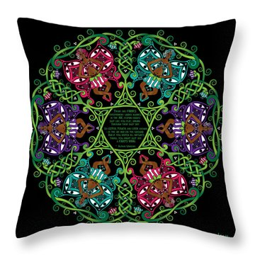 Celtic Fairy Mandala Throw Pillow