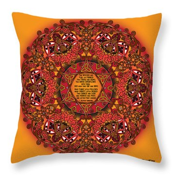 Celtic Fall Fairy Mandala Throw Pillow