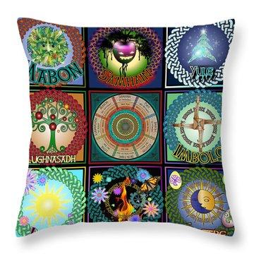 Celtic Festivals Calendar Throw Pillow