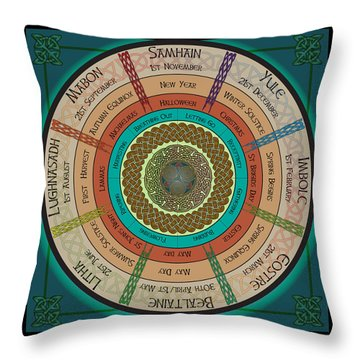 Celtic Festivals Throw Pillow