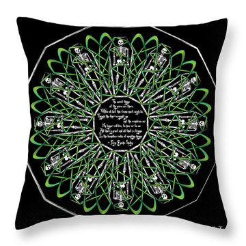 Celtic Flower Of Death Throw Pillow