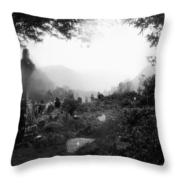 Celtic Graveyard Throw Pillow by Tim Townsend