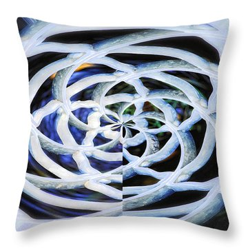 Celtic Knot Throw Pillow by Donna Blackhall