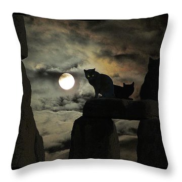 Celtic Nights Throw Pillow