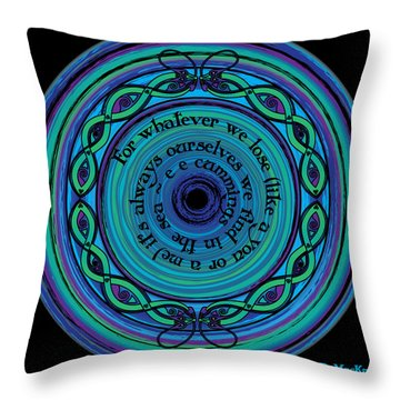 Celtic Sea Serpents Throw Pillow