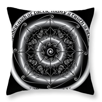Celtic Spider Mandala Throw Pillow