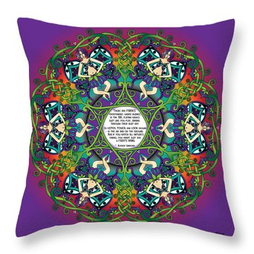 Celtic Spring Fairy Mandala Throw Pillow