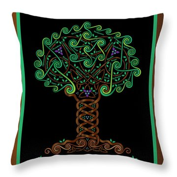Celtic Tree Of Life Throw Pillow