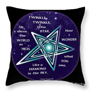 Celtic Twinkle Twinkle Throw Pillow