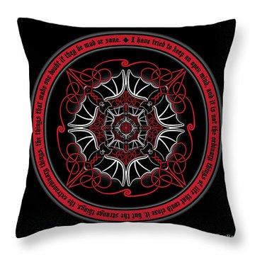 Celtic Vampire Bat Mandala Throw Pillow