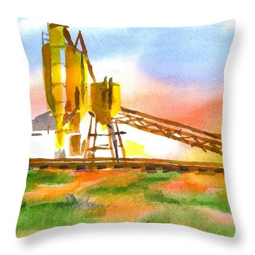 Cement Plant Across The Tracks Throw Pillow by Kip DeVore