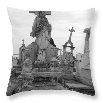 Cemetary Cross Throw Pillow