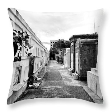 Cemetery Departed Throw Pillow by John Rizzuto