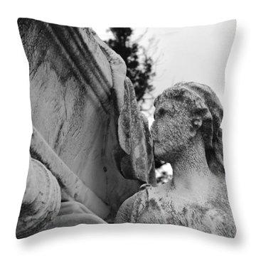 Cemetery Gentlewoman Throw Pillow by Jennifer Ancker