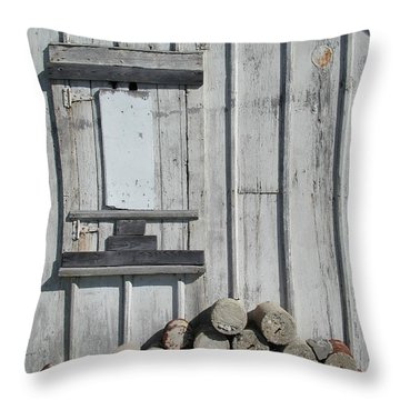 Cemetery Shed Throw Pillow by Joseph Yarbrough
