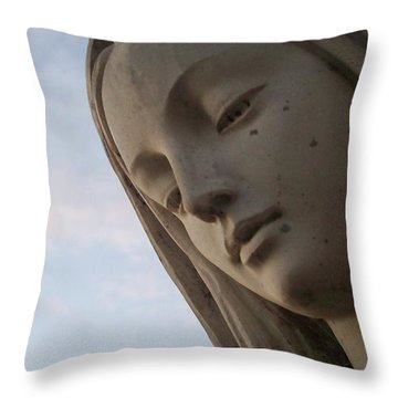 Cemetery Statue Throw Pillow