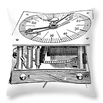 Census Machine, 1890 Throw Pillow