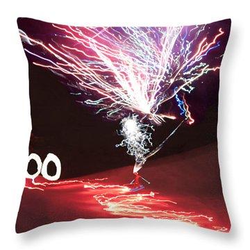 Throw Pillow featuring the digital art Centennial  Winter Carnival by Daniel Hebard