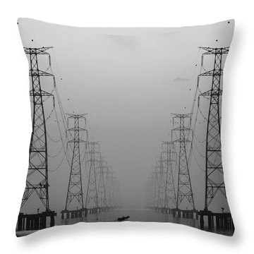 Water Tower Throw Pillows