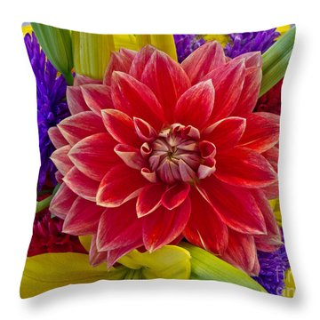 Center Of Attention Throw Pillow by Arlene Carmel