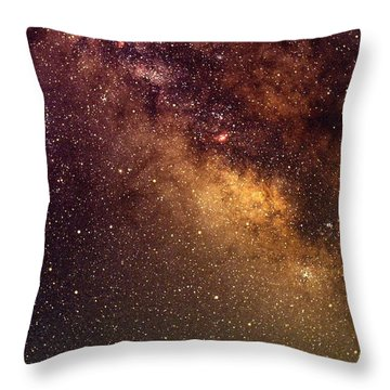Center Of The Milky Way Throw Pillow by Alan Vance Ley