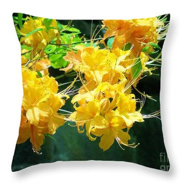Centered Yellow Floral Throw Pillow