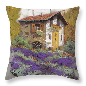 Cento Lavande Throw Pillow by Guido Borelli