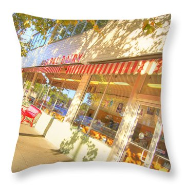 Central Dairy Throw Pillow