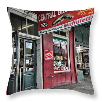 Central Grocery Throw Pillow by Lynn Jordan