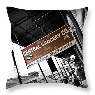 Central Grocery Throw Pillow by Scott Pellegrin