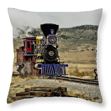 Throw Pillow featuring the photograph Central Pacific's Jupiter by David Lawson